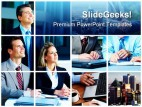 Business Collage People PowerPoint Backgrounds And Templates 1210