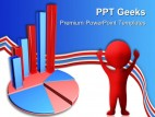 Business Graph On Pie Chart Finance PowerPoint Templates And PowerPoint Backgrounds 0411