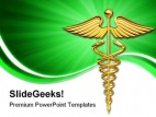 Caduceus Symbol Medical PowerPoint Background And Template 1210