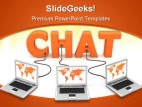 Chat Internet Business PowerPoint Template 0810