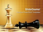 Chess Game Leadership PowerPoint Template 0910