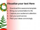 Christmas Tree And Wreath Festival PowerPoint Backgrounds And Templates 1210