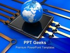 Communication Technology Global PowerPoint Templates And PowerPoint Backgrounds 0411