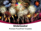 Composite Fireworks Abstract PowerPoint Template 1010