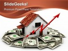 Cost Of Home Rises Realestate PowerPoint Backgrounds And Templates 1210