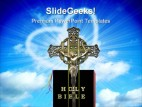 Cross With Bible Religion PowerPoint Template 1110