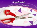 Cutting Corners Metaphor PowerPoint Backgrounds And Templates 1210