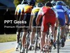 Cycle Race Sports PowerPoint Templates And PowerPoint Backgrounds 0411