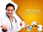 Doctor Holding Pills Medical PowerPoint Templates And PowerPoint Backgrounds 0411