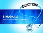 Doctor Stethoscope Medical PowerPoint Background And Template 1210