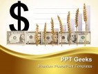 Dollar With Wheat Growth Agriculture PowerPoint Templates And PowerPoint Backgrounds 0411