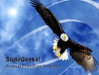 Eagle Clouds America PowerPoint Template 0610