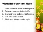 Easter Eggs Food PowerPoint Template 0810