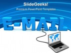 Email Internet Technolgy PowerPoint Template 0810