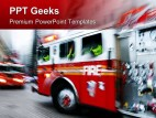 Emergency Fire Trucks Transportation PowerPoint Templates And PowerPoint Backgrounds 0411