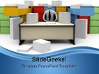 Endless Office Work Bussiness PowerPoint Background And Template 1210