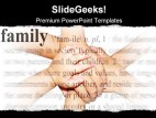 Family Hands People PowerPoint Template 0810
