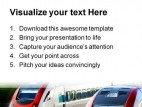 Fast Speed Trains Transportation PowerPoint Background And Template 1210
