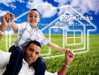 Father And Son Family PowerPoint Templates And PowerPoint Backgrounds 0411
