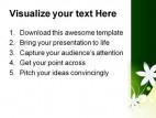 Floral Green Abstract PowerPoint Template 0910