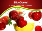 Fruits Refreshing Food PowerPoint Template 0810