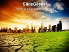 Global Warming Environment PowerPoint Template 1110