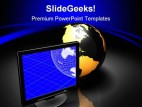 Globe Computer PowerPoint Template 0810