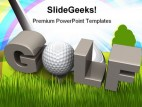Golf Playing Sports PowerPoint Backgrounds And Templates 1210