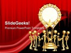 Group Accolade Teamwork PowerPoint Template 0910