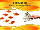 Group And Goldfish Business PowerPoint Background And Template 1210