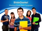Group Of Collage Students Education PowerPoint Backgrounds And Templates 1210