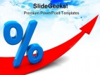 Growing Percent Symbol PowerPoint Template 0910
