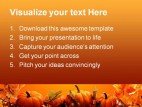 Halloween Nature Abstract PowerPoint Template 0610