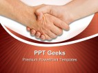Handshake02 Business PowerPoint Templates And PowerPoint Backgrounds 0411
