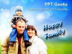 Happy Family People PowerPoint Templates And PowerPoint Backgrounds 0411