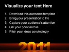 Happy New Year03 Festival PowerPoint Template 1010
