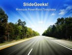 Highway Travel PowerPoint Background And Template 1210