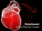 Human Heart Medical PowerPoint Template 0610