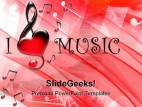 I Love Music Symbol PowerPoint Backgrounds And Templates 1210