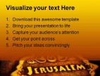 Jerusalem Bible Religion PowerPoint Templates And PowerPoint Backgrounds 0411