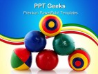 Juggle Balls Shapes PowerPoint Templates And PowerPoint Backgrounds 0411