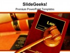 Law Book Globe PowerPoint Template 1110