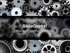 Many Gears Industrial PowerPoint Template 0810