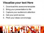 Meltdown Business PowerPoint Template 1110