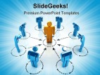 Networking Internet PowerPoint Template 0810