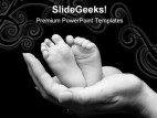 New Born Baby PowerPoint Template 0810