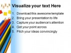 Pencils Education PowerPoint Backgrounds And Templates 1210
