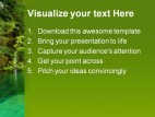 Pond Beauty Nature PowerPoint Template 1110