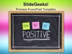 Positive Symbol PowerPoint Template 0910