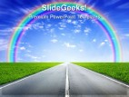 Rainbow Road Nature PowerPoint Background And Template 1210